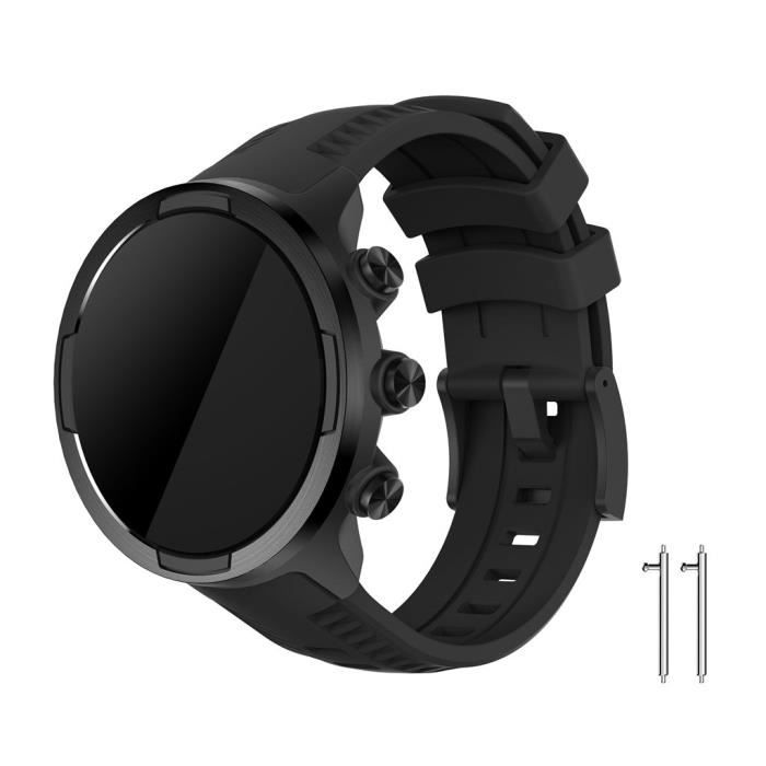 Accessoires de bracelet intelligent Sports Silicone Replacement Wristband Band Strap for SUUNTO 9- Baro Smart Watch A259