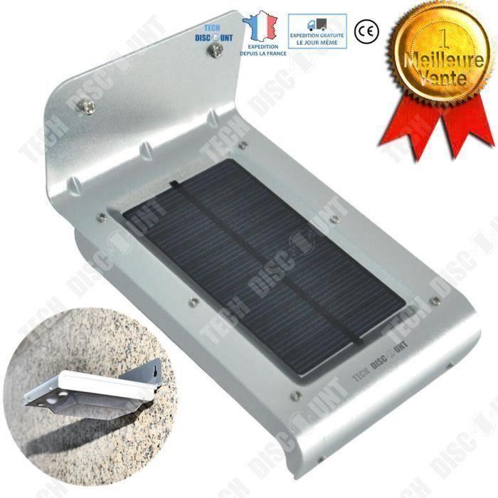 TD lampe solaire LED extérieur étanche jardin automatique puissance éclairage lumineux énergie alimentation économie induction camp