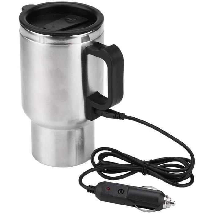 Bouilloire électrique de voiture,Mug chauffant de voiture, tasse chauffante de voyage en acier inoxydable450 ml,12V