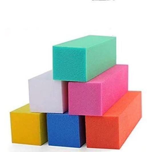 10 blocs blancs polissoirs, manucure faux ongles gel uv ,résine , vernis permanent(ROSE)
