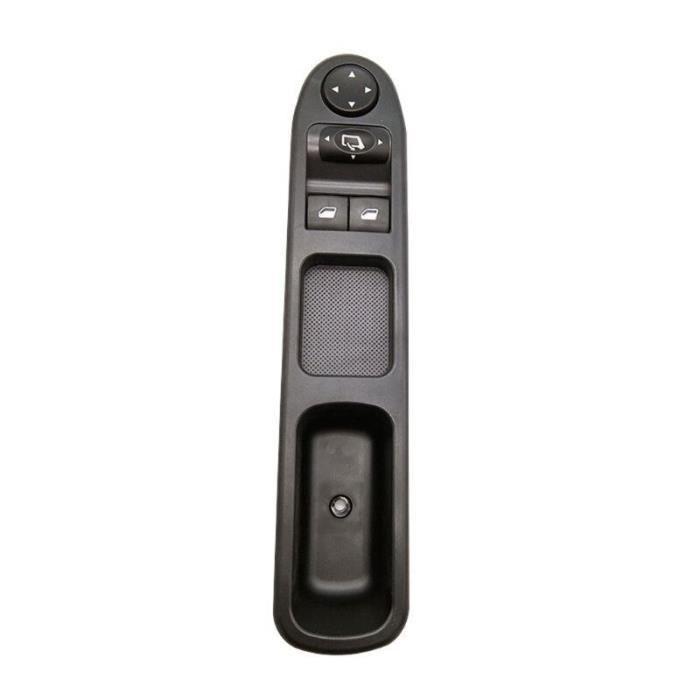 Lève-vitres,Interrupteur de fenêtre de commande d'alimentation côté conducteur avant gauche, pour Peugeot 307 - Type Black