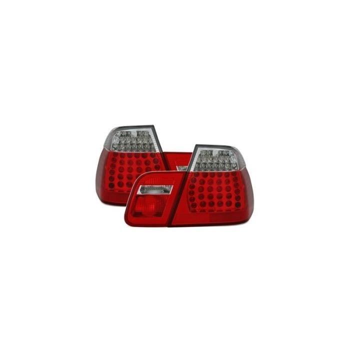 2 FEUX ARRIERE LED LOOK M3 BMW SERIE 3 E46 BERLINE PHASE 1 DE 1998 A 09/2001