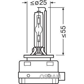 OSRAM Ampoule xénon XENARC COOL BLUE INTENSE D1S