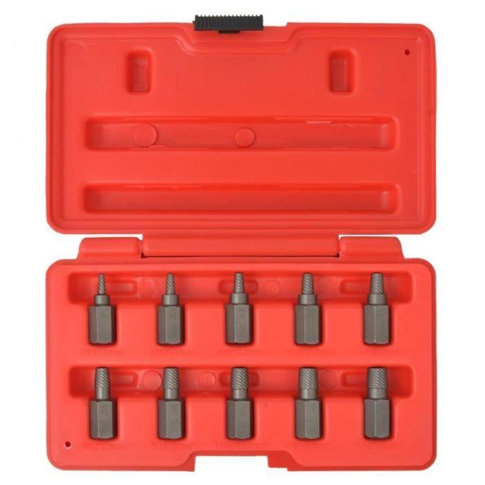 GOT-TAM Kit d'extracteurs de vis Acier 10 pièces