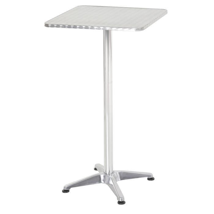 Table de bar table de cuisine bistro salle à manger hauteur réglable plateau inox