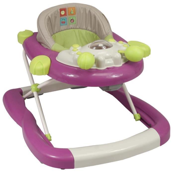 Trotteur bébé avec tablette d'activité, pliage compact