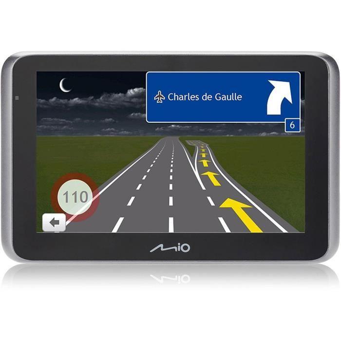 MIO MiVue drive 65 LM GPS voiture - Caméra embarquée Premium Extreme HD - Aide à la conduite - Mise à jour à vie - Bluetooth& TMC