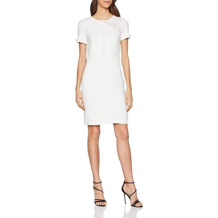 Morgan 191-REINE Robe de soirée Multicolore Off White, 38 (Taille Fabricant:T38) Femme - 191-REINE.N-OFF WHITE