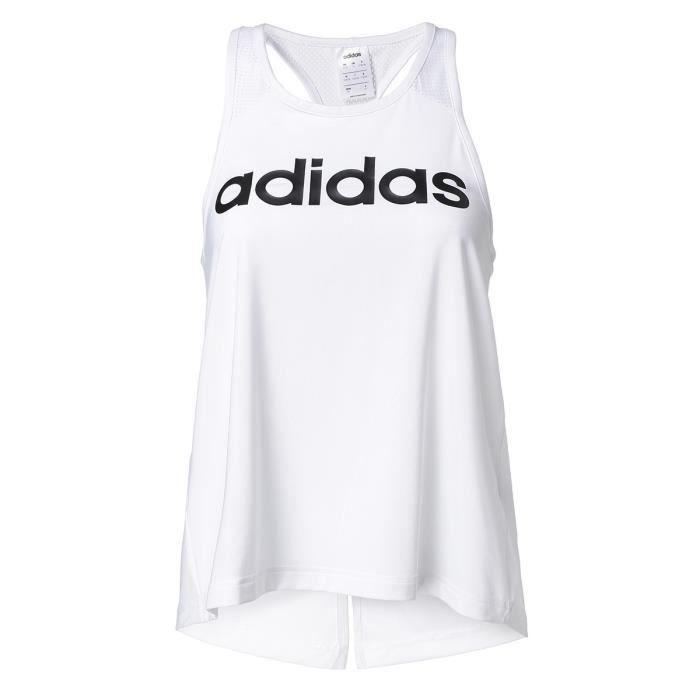 ADIDAS D2M LOGO TANK T-shirt -Blanc