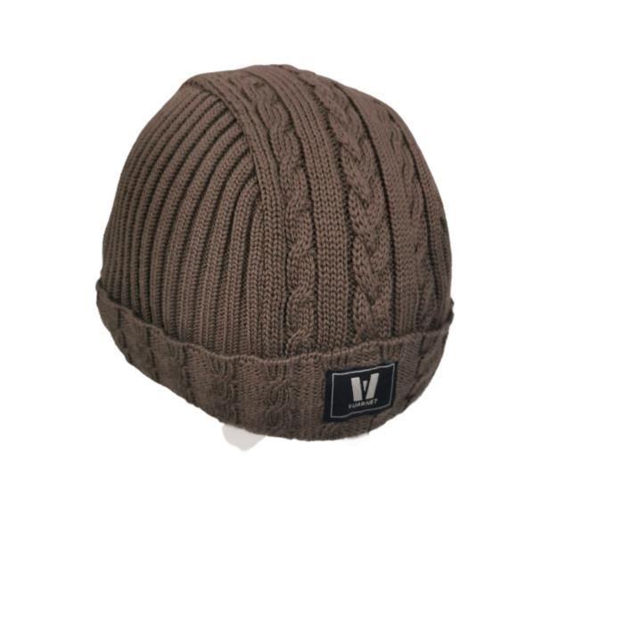 Casque de ski + cache casque VUARNET laine marron
