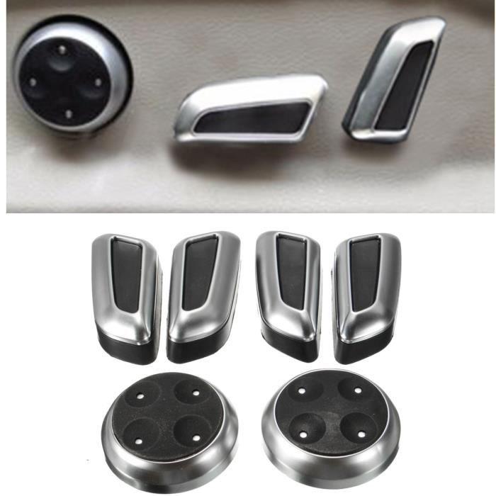 NEUFU 6x Chrome Interrupteur Réglage Seat Siège Pour AUDI A3 A4 A5 A6 Q3 Q5 VW Tiguan