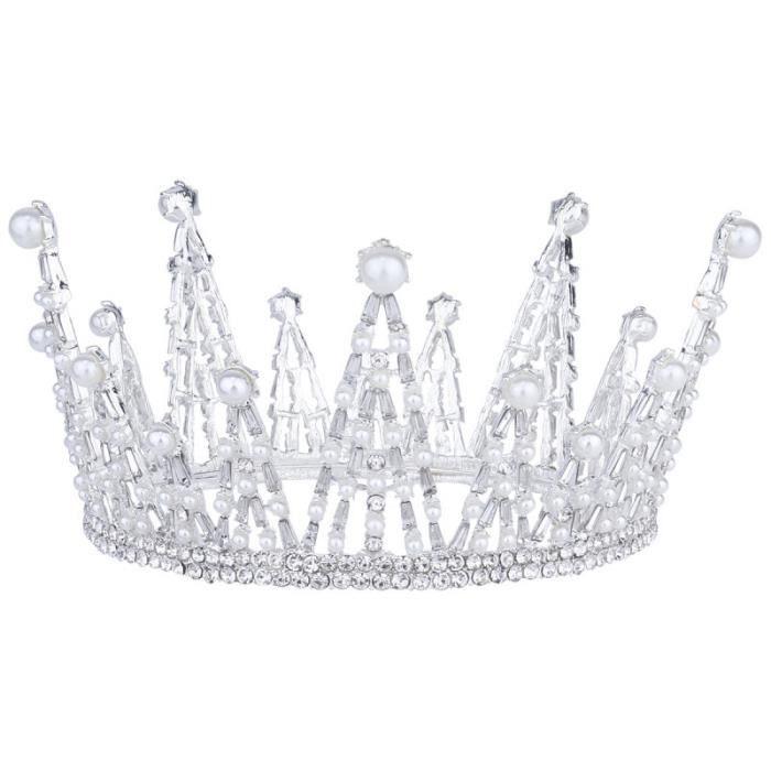 1 Pc luxueux reine bijoux en cristal Vintage mariage anniversaire bal rond couronne accessoires de JEU PLAYSTATION 4