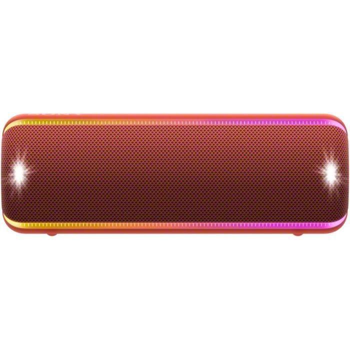 SONY SRSXB32R Enceinte Bluetooth EXTRA BASS 24h Splash proof wireless speaker – Red