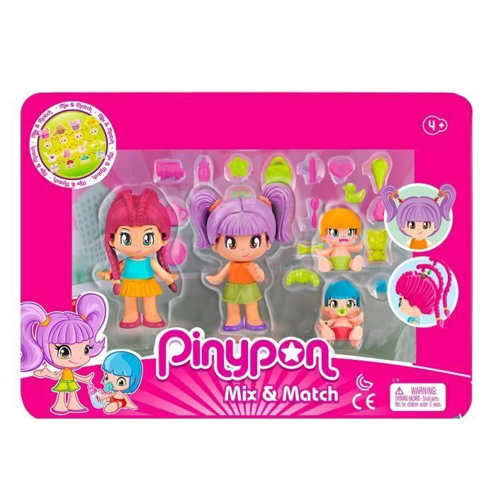 Pinypon - Coffret de 4 figurines City