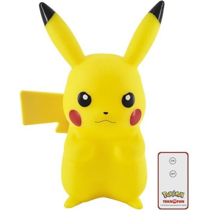 TEKNOFUN Lampe figurine LED Pikachu avec télécommande - 25 cm