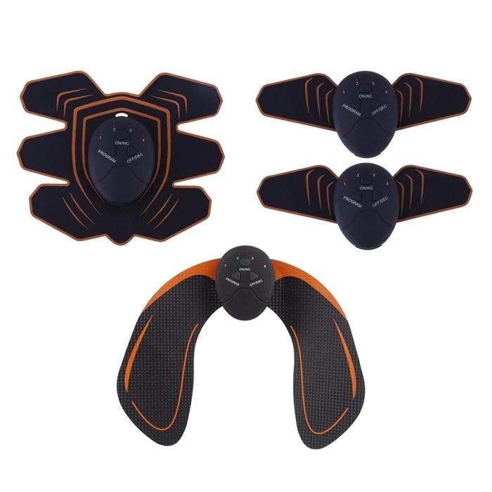 kit de 3 Appareil Abdominale Cuisse et Bras Electrostimulation Musculaire pour Perdre du Gras, Renforcer Muscles du Corps Appareil
