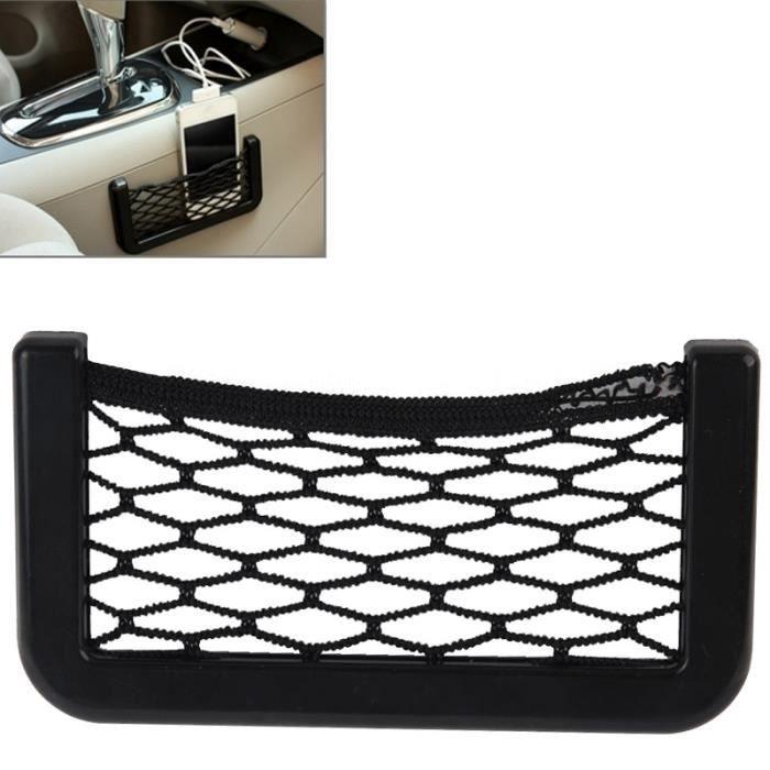 Accessoire Gadget voiture Poches Net Car 12cm x 6cm Automobile Sac de rangement Chaîne avec adhésif