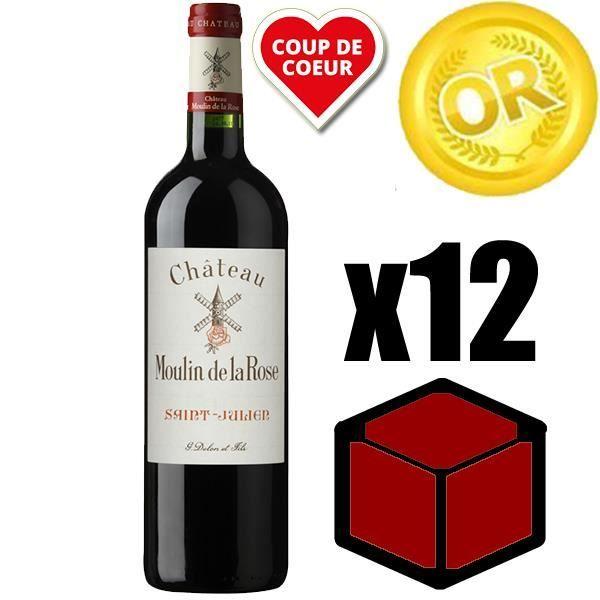 VIN ROUGE X12 Château Moulin de la Rose 2016 Rouge 75 cl AOC