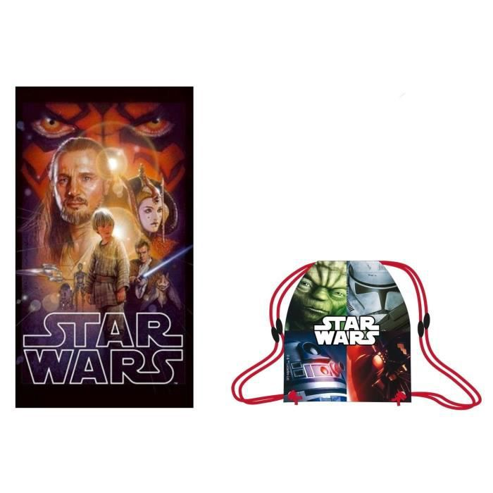 lot serviette star wars sac de piscine plage star wars achat vente serviette de plage. Black Bedroom Furniture Sets. Home Design Ideas