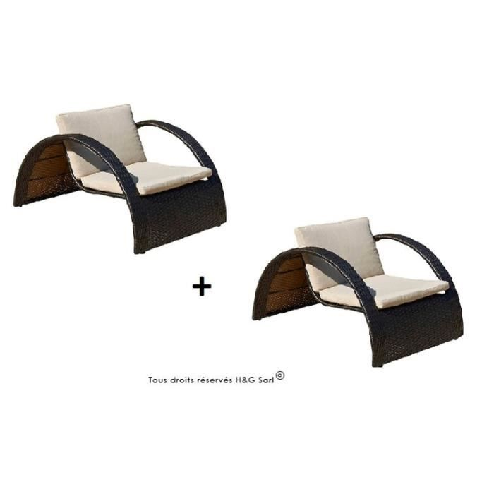 bain de soleil demi cercle resine tressee chocolat 2 bains. Black Bedroom Furniture Sets. Home Design Ideas