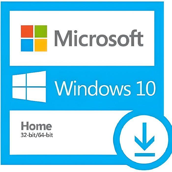 BUREAUTIQUE À TÉLÉCHARGER Windows 10 Home/Famille 32/64 bit Clé d'activation