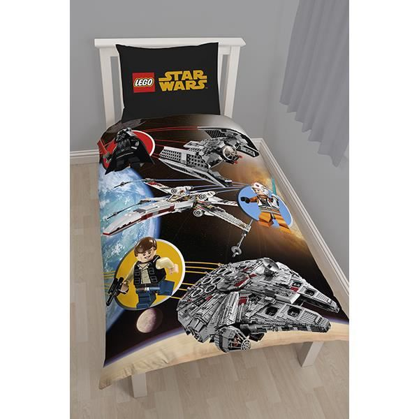 housse de couette lego star wars space achat vente parure de couette cdiscount. Black Bedroom Furniture Sets. Home Design Ideas