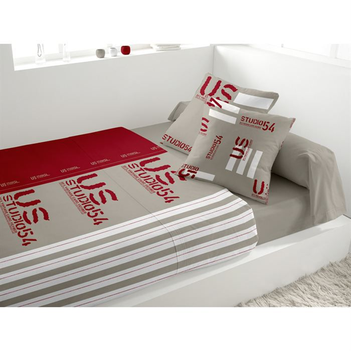 parure de lit 5 pi ces u s rouge achat vente parure de drap cdiscount. Black Bedroom Furniture Sets. Home Design Ideas
