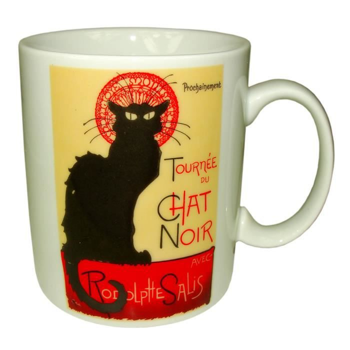 souvenirs de france mug paris 39 le chat noir 39 achat vente bol mug mazagran cdiscount. Black Bedroom Furniture Sets. Home Design Ideas