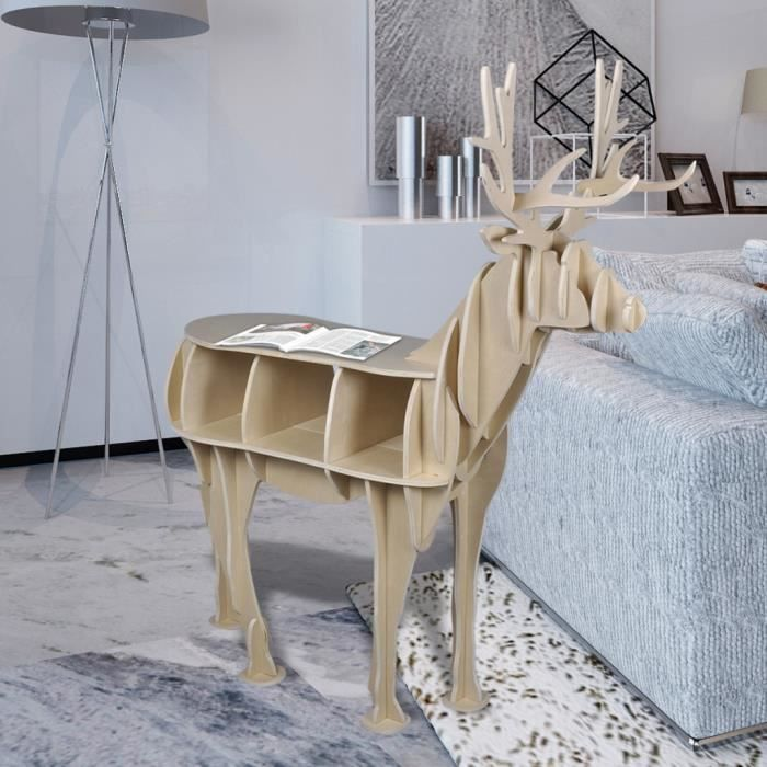 etag re en bois forme de cerf achat vente meuble tag re etag re en bois forme de ce. Black Bedroom Furniture Sets. Home Design Ideas