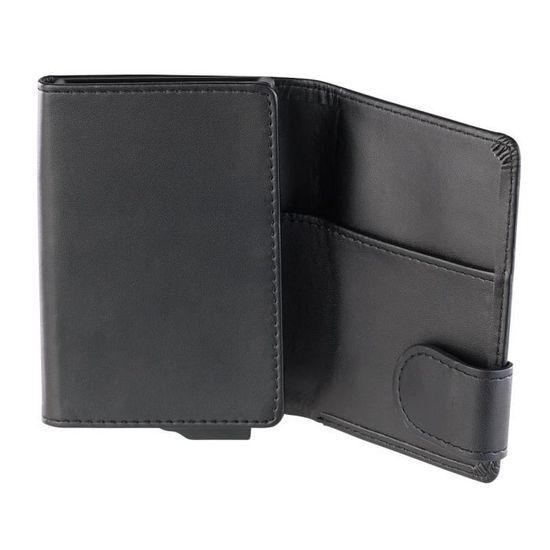 Blocage de RFID /Étui pour Cartes de cr/édit Noir + Argent Porte-Cartes de Protection Contre Le vol de donn/ées RFID pour 6 Cartes /Étui pour Cartes de cr/édit en Acier Inoxydable