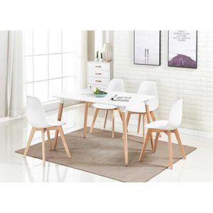 TABLE À MANGER COMPLÈTE Ensemble de salle à manger moderne Rico - Table et