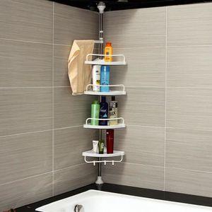 Kouan Etagère d\'angle télescopique salle de bains 120-300 cm ...