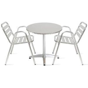 Petite table ronde jardin