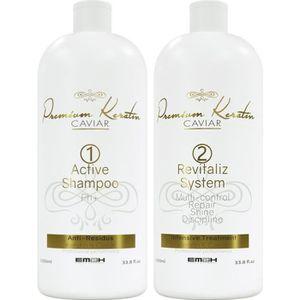 DÉFRISAGE - LISSAGE EM2H Kit Lissage Premium Keratin Caviar Cheveux ab