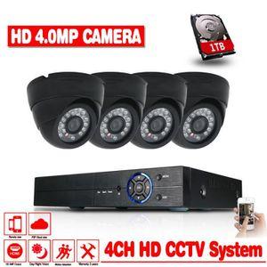 CAMÉRA DE SURVEILLANCE 1To HDD 4 canaux HD-AHD CVI TVI Système de sécurit