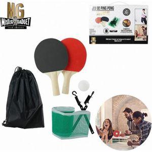 Mini Tennis de Table Set Portable Net Rack jeux amusants 2 raquettes 1 balles ping pong Set