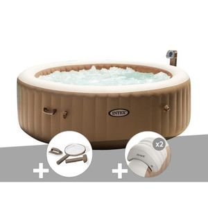 SPA COMPLET - KIT SPA Kit spa gonflable Intex PureSpa rond Bulles 6 plac