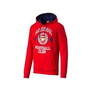 Sweat Shirt à Capuche Arsenal Rouge Multicouleur Achat