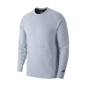 Sweat-shirt Nike Sportswear Tech Fleece Crew - 805140-023 Gris Gris ... 8ec8981789cd