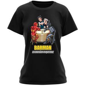 T-SHIRT T-shirt Femme Noir MCU - Justice League parodique