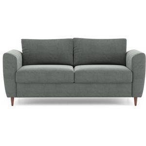 CANAPÉ - SOFA - DIVAN OSKAR Canapé droit 2/3 places - Tissu gris - L 181