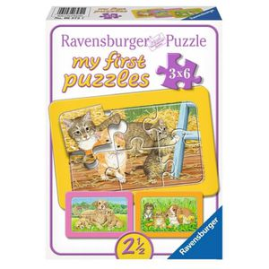 PUZZLE Puzzle 6 pièces 3 Puzzles - My First Puzzle - Chat