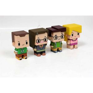 FIGURINE - PERSONNAGE WTT THE BIG BANG THEORY Set de 4 mini-figurines Pi