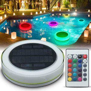 PROJECTEUR - LAMPE Lampe piscine solaire avec télécommande - RVB 7 co