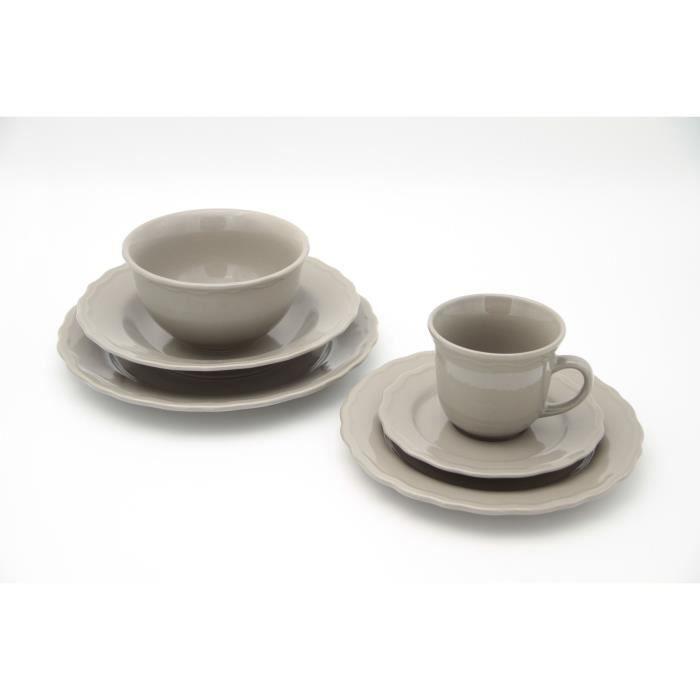 Service de table - 24 pièces - Collection Patrimo - Gris