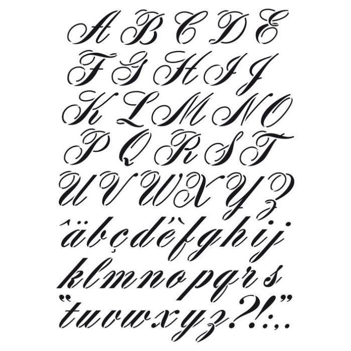 Pochoir A3 Alphabet - Artémio {couleur}