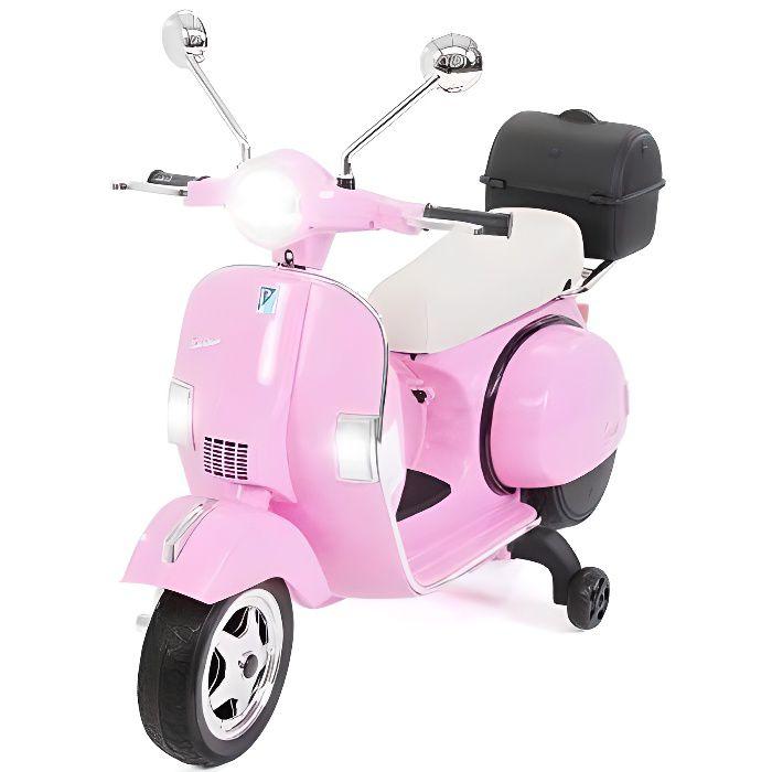 Moto VESPA officiel 12v électrique pour enfants licence Piaggio Rose - Moto électique pour enfant avec batterie