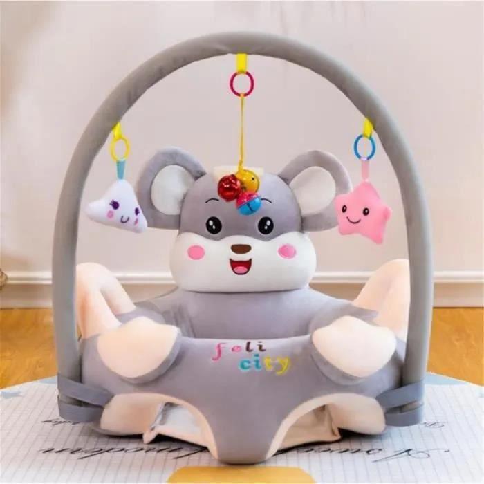 Bébé Siège Support Siège de Soutien Canapé en Peluche Bébé Avec Arche Suspendu Jouets Forme Souris