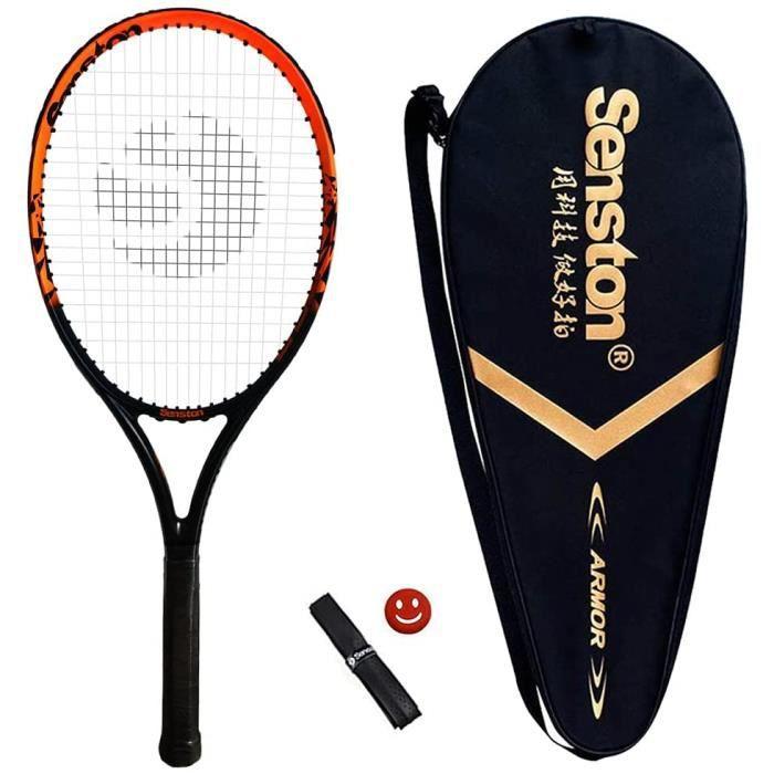 Senston Raquette de Tennis 27'', Professionnelle en Carbone Complet Raquette de Tennis Adulte, y Compris Sac de Tennis et Surgri18