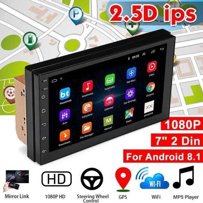 7 Inch 2 DIN Autoradio Wifi Bluetooth 8.1 Core Quad Android Voiture Stéréo Lecteur MP5 Radio GPS Navigation